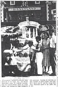 Photo from July 18th, 1960 - Disneyland's 5th Birthday celebration (Anaheim Bulletin)