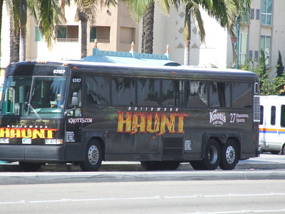 Knott's Scary Farm is still going on, and has decorated buses in the Anaheim area to help promote the event