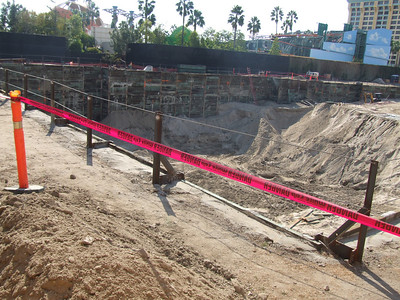 A view of the GCH expansion (building underground parking).