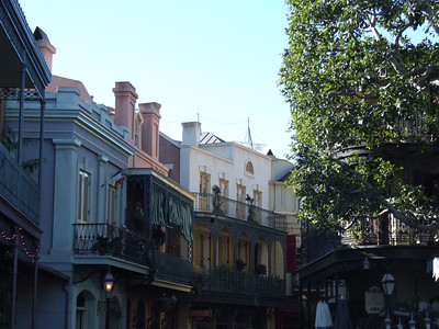 New Orleans Square has lost its Christmas Decor