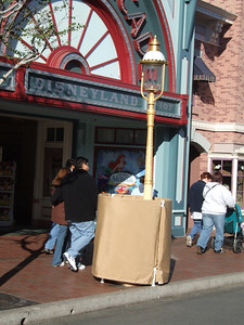 The Main Street Lampposts are getting repainted green