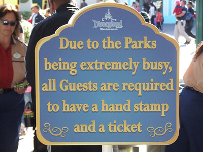 Also, don't forget, if the park reaches capacity, Disney has to prevent all guests from re-entering, so the hand-stamp is no guarantee you can just walk back into the park, though you will have high priority if enough guests leave the park to make room for others.  And this is the last photo of this album, plenty of photos are available from the last few days.  Merry Christmas and Happy Holidays.