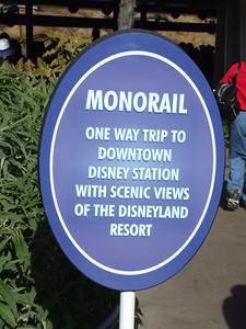 "One of the Monorails was ""101"", so they only had the Old Monorail Red running, so they restricted trips to one-way, which was OK, as we were headed to the ESPNZone for lunch."