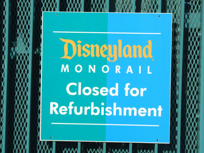 Looks like the Monorail will not be running on slow days due to needed repairs to keep the 2 Monorails running