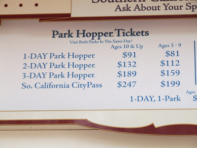 Only price change here is the Southern California City Pass