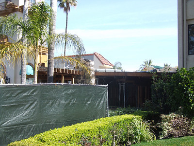 Work continues on the building of a Cold Stone Creamery at the Park Vue Inn on Harbor Blvd.