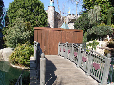 The Snow White Wishing Well area is closed for awhile