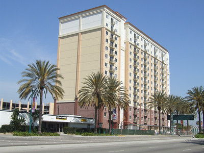Work is progressing on WorldMark Anaheim, a timeshare hotel run by Trendwest.
