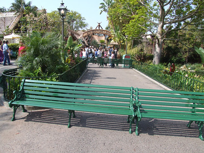 For some reason, they had part of the Adventureland entrance path closed off.