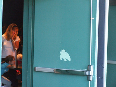 This door has been this way for months now, and it is the main entrance to Innoventions.