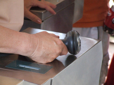 The turnstile CM's have received new wireless scanners at the turnstiles.