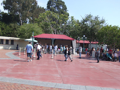 The stroller rentals have been moved back to the Entrance Plaza, though in a slightly different arrangement of the tents