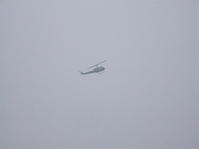 And the reason I got up at 5 AM, the helicopter....