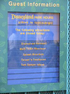Note that Splash Mountain is listed on the list