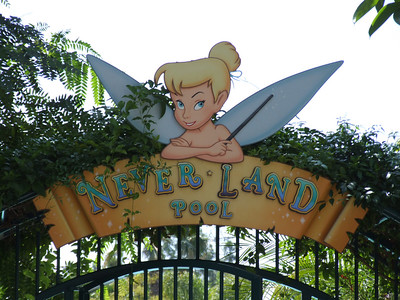 The Never Land Sign has been repaired