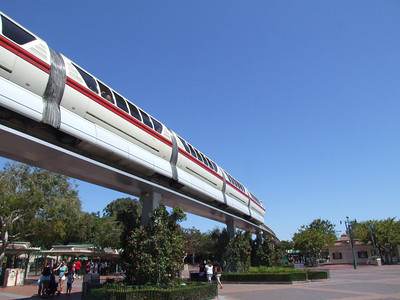 The Nemo wrap has been taken off of Monorail Red.  Purple is still backstage being worked on.