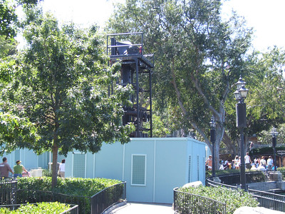 Working on one of the Fantasmic! light towers