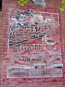 Faded sign on facade in the Hollywood Pictures Backlot
