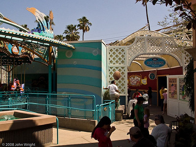 Restroom area behind King Triton's Carousel