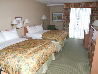 """This is one of the Premium Disney View Rooms with the new """"Heavenly Beds"""" in the room."""