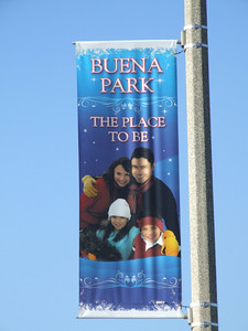 Not really dressed for typical Buena Park weather!