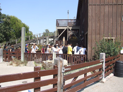 Also, Knott's hosted a lot of groups today, including picnics and meals, both inside the park and at the Picnic Area across the street.