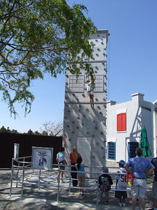 A new climbing wall has been added next to the Lego Factory