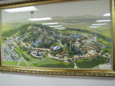 While we were waiting to be part of the Media Event, they had us in the Conference Room at the Park Backstage.  This is the concept artwork for the original park in the early 1970's.