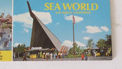 SeaWorld San Diego original entrance postcard