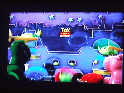 Another mention of the attraction, and the Toy Story Mania! logo