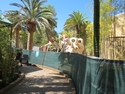 USH realized that there isn't much for young ones to do on the lower lot, so they are building a playground area next to the Jurassic Park Queue.