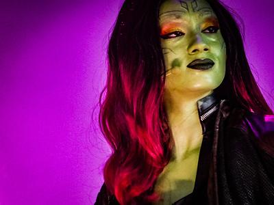 Gamora Guardians of the Galaxy, Awesome Mix Live! Epcot Walt Disney World - Orlando, Florida