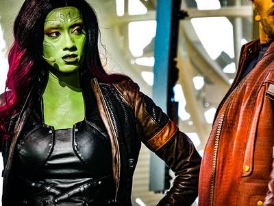 Gamora & Star-Lord Guardians of the Galaxy, Awesome Mix Live! Epcot Walt Disney World - Orlando, Florida