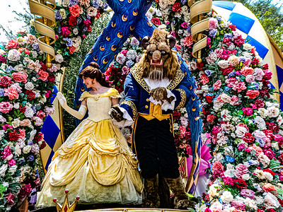 Belle and The Beast, Walt Disney World Festival of Fantasy Parade - Orlando, Florida