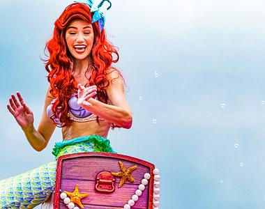 Ariel, Walt Disney World Festival of Fantasy Parade - Orlando, Florida