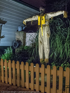 Pilot scarecrow in Disney's Hollywood Studios park