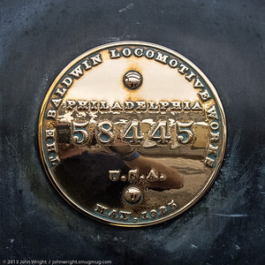 Locomotive ID plate
