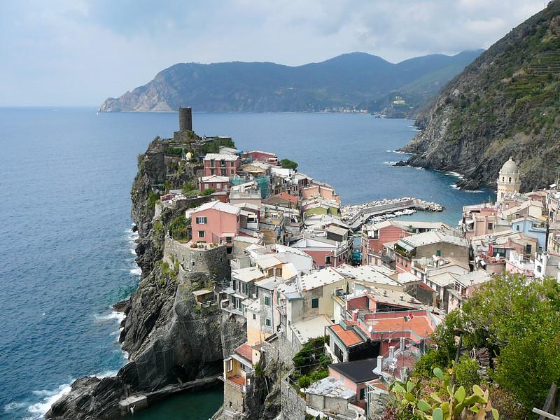 Cinque Terre villages along the coast, Italy