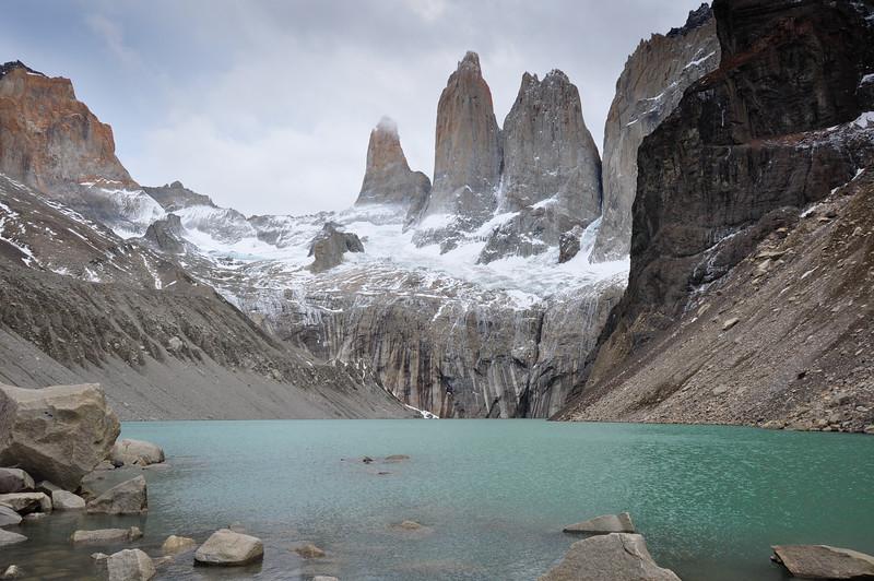 The three Torres in Parque Nacional Torres del Paine, Chile