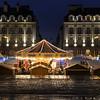 Rennes' carousel in the middle of place du Parlement-De-Bretagne, Rennes, France
