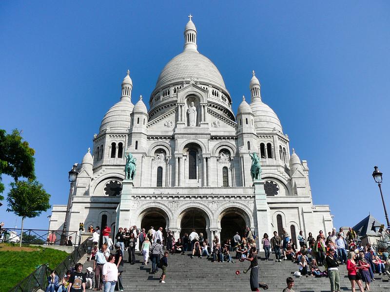 Basilica of the Sacre Coeur in Montmartre, Paris, France
