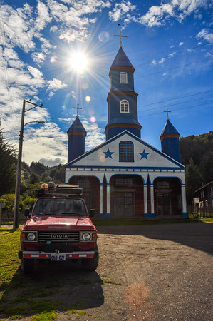 Gorgeous Colored and Wooden Churches, Chiloe Island, Chile