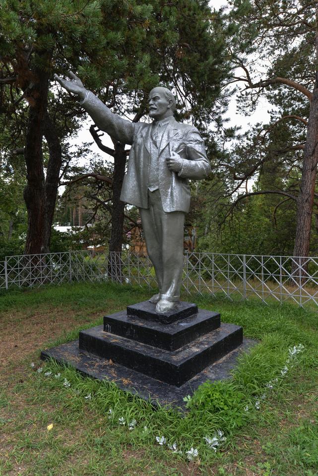 Silver Lenin Monument