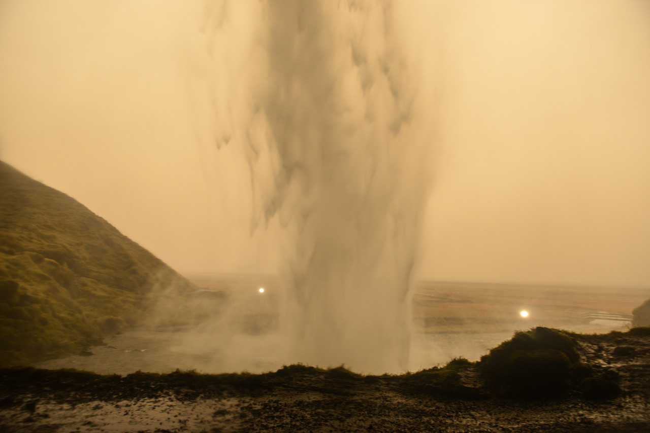 Seljalandsfoss, Iceland from Behind