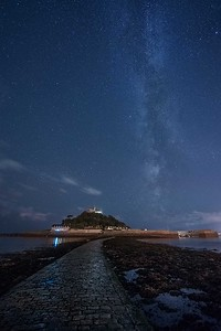 Mount St Michael and Milky Way