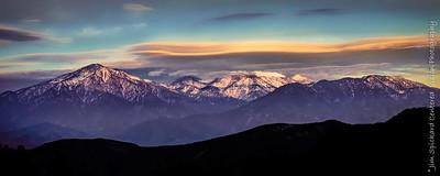 Clouds over San Gorgonio Mountain