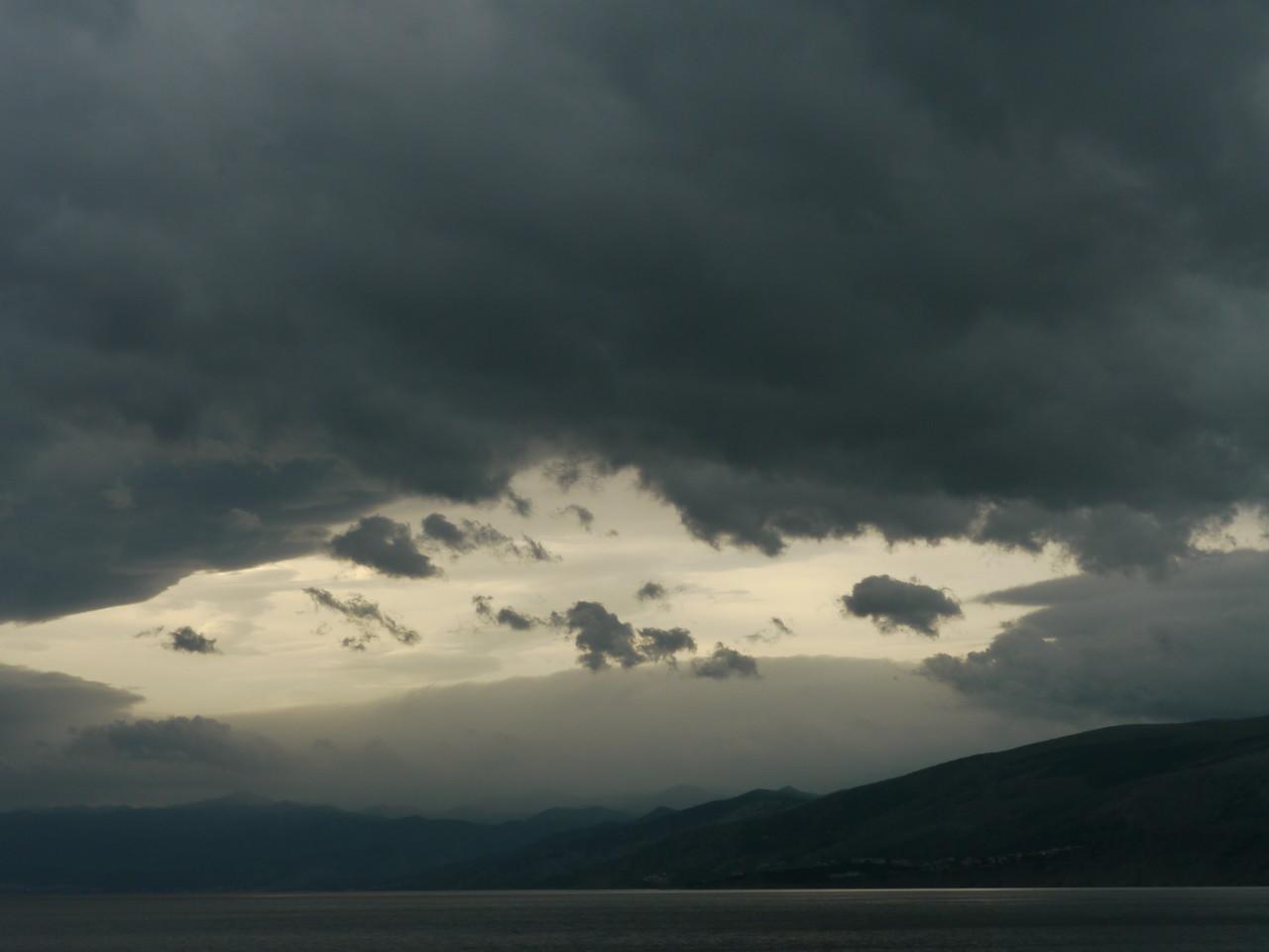 © RobAng 2010, Croatia, Sicht vom Gebirge auf Adriaküste bei Sveti Jurai