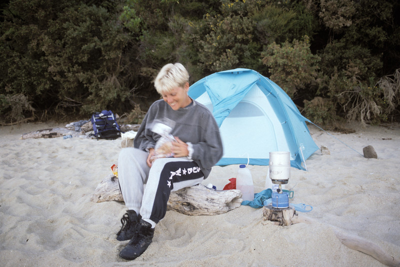 © RobAng 1989, New Zealand by bicycle, Abel Tasman National Park, 4.3.89