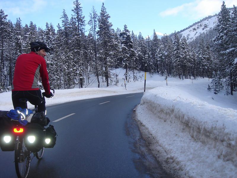 © RobAng 2008 -  Ofenpass Jan. 08, Auftakt zur grossen WinterTOUR oder Tour-de-TORTUR 4500km nach Istanbul und zurück