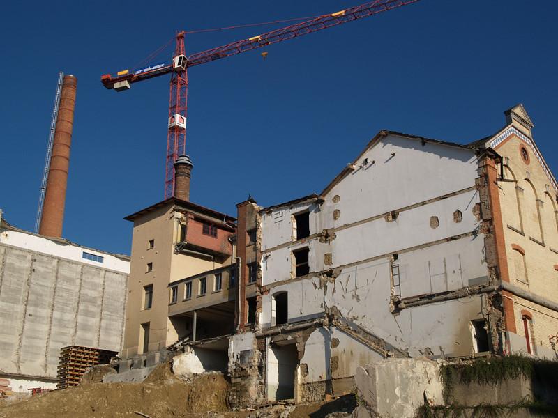 Okt. 08, Baugrube Brauerei Haldengut, Winterthur